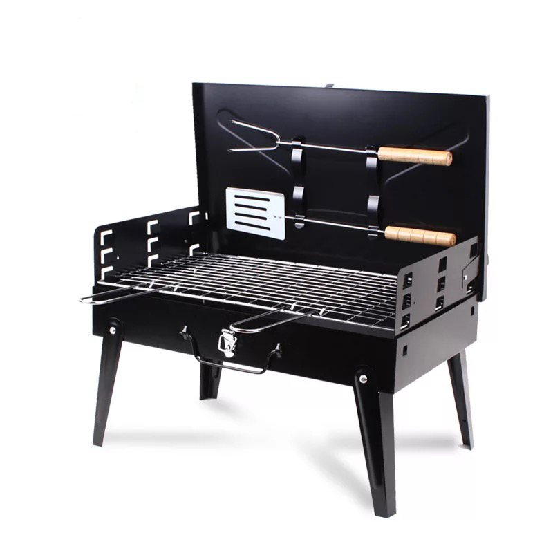 2019 High Quality Outdoor Folding Portable Thickening Outdoor Home Small Charcoal Barbecue Grill