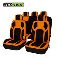 Car pass automobiles 13PCS Full Seat Covers Extreme PU Leather Universal Car Seat Covers Protector Car Accessories