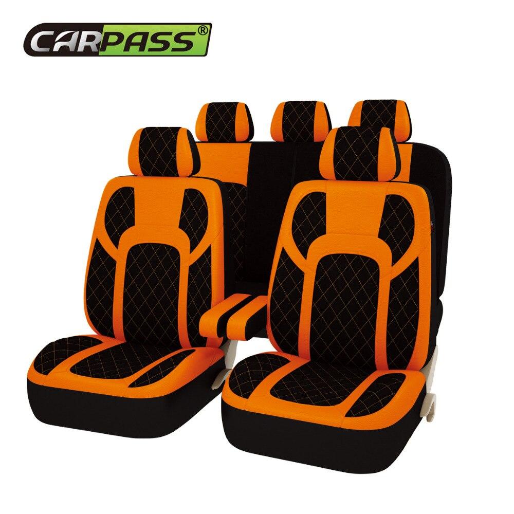 Car-pass automobiles 13PCS Full <font><b>Seat</b></font> <font><b>Covers</b></font> Extreme PU Leather Universal Car <font><b>Seat</b></font> <font><b>Covers</b></font> Protector Car Accessories