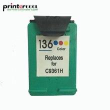 einkshop 136 Remanufactured Ink Cartridge Replacement for hp 136 Officejet 6213 Deskjet 5443 Photosmart 2573 C3183 PSC 1513