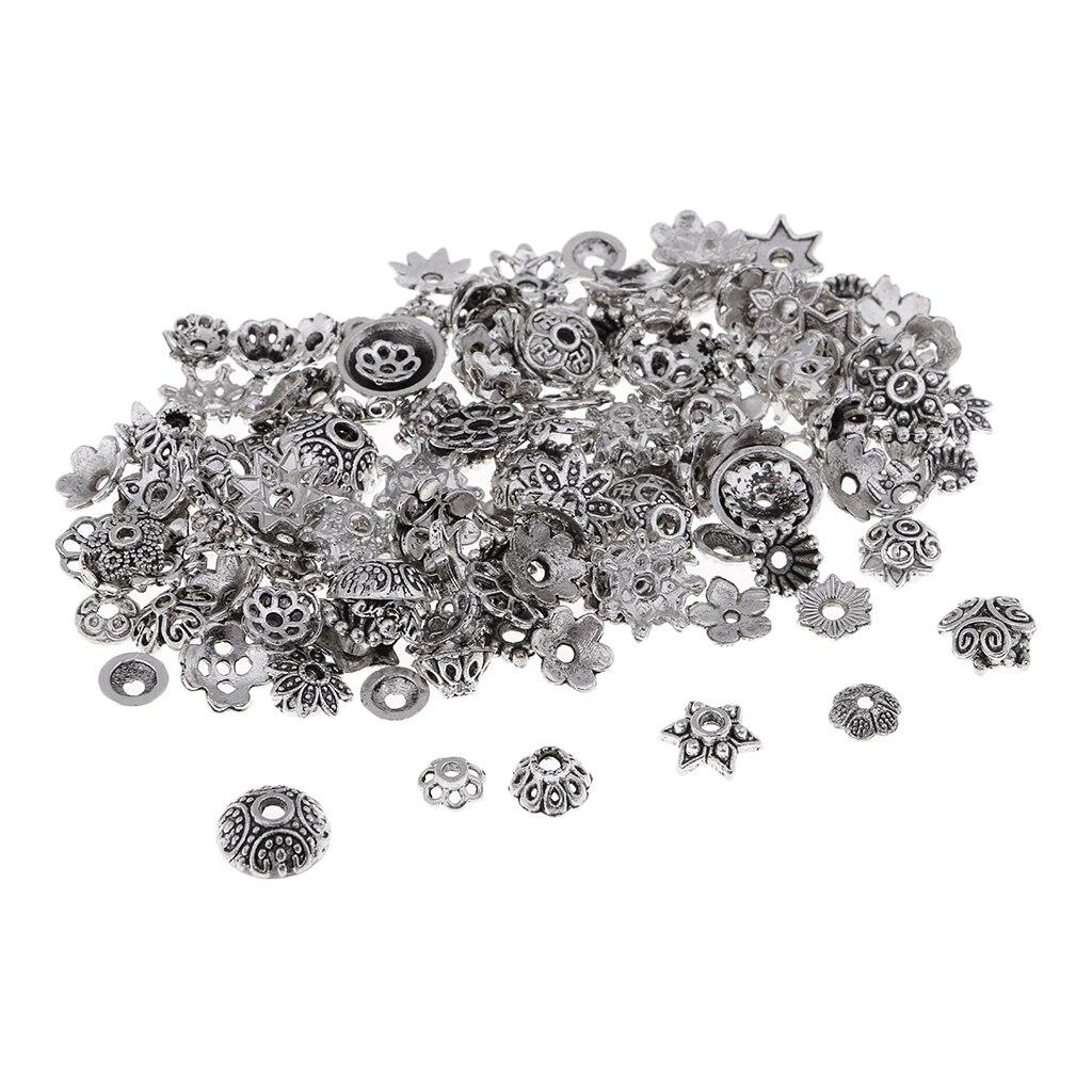 150 шт сплав в форме цветка бисера шапки рукоделие Создание ювелирных изделий находки ремесла