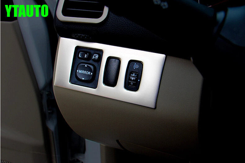 Auto inerior accessories light switch button trim inner car styling for Mitsubishi Pajero 2014 stainless steel