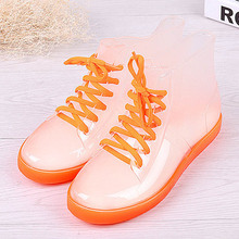 Aleafalling Women Rain Boots Mature Lady Flower Waterproof Lady Shoes Warm Thicken Rainproof Ankle Outdoor Girl's Shoes AW07(China)