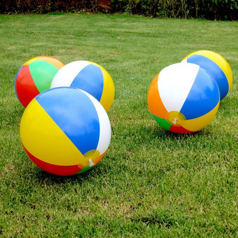 Colorful Inflatable PVC Pool Beach Ball Blow up Toy Panel Holiday Party Swimming Garden Toy Summer Hot Sale Toys