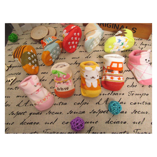Baby Socks For Newborn Christmas Gift Boxes Set Lot 5 PCS Non-slip For New Born Bebe Animal Infant For Newborn Socks Winter
