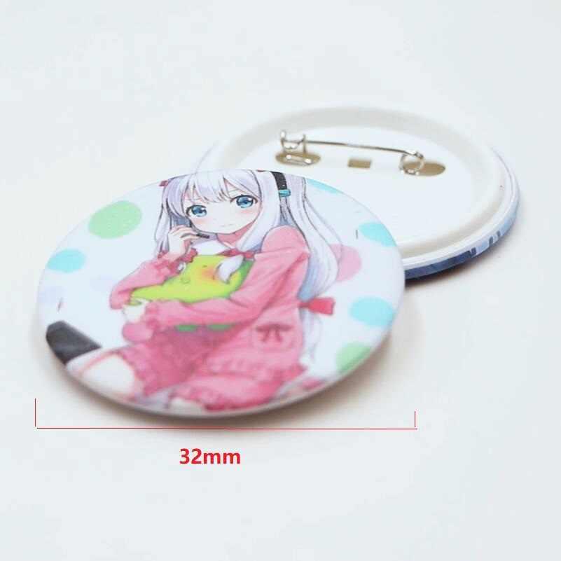 8 PCS/LOT Anime Natsume Yuujinchou Himouto Umaru chan Yosuga no Sora Fate Grand Order Brooch Badge Toy Model Doll Pins 32MM