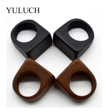 YULUCH NEW Hot Sale Trend Original Natural Wood Rings Handmade for Women Fashion Jewelry Retro Black And Brown