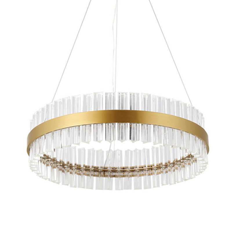 Luxury Villa Crystal Pendant Lights Fixtures Gold Modern Living Room/Restaurant/Hotel/Lobby LED ceiling pendant lamp Dia 60cm