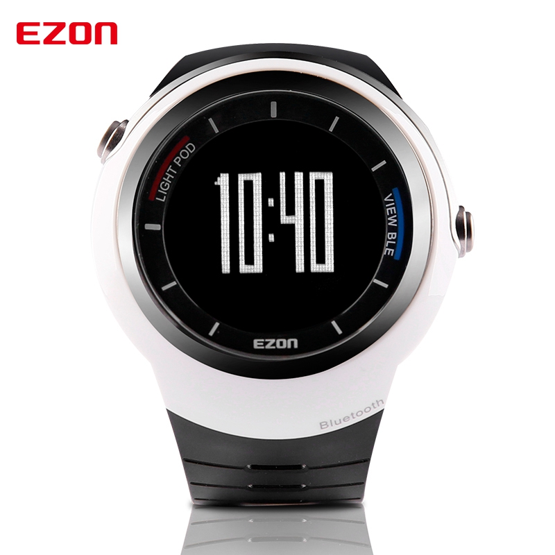 EZON factory direct men's electronic watch intelligent Bluetooth pedometer to remind sports running watches Black + Silver S2  цены