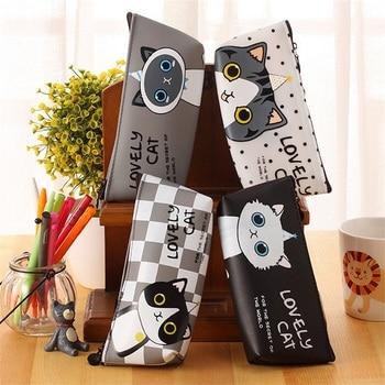 (1Pc/Sell) Kawaii cat Pencil Case Cartoon School Supplies Bts Stationery Gift Estuches Cute Pencil Box Pencilcase Pencil Bag Pencil Bags