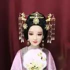 2018 креативный оригинальный набор аксессуаров для волос с кисточками для юной леди Gingko Cherry винтажные шпильки с кисточкой кран ювелирные изделия для волос - 3