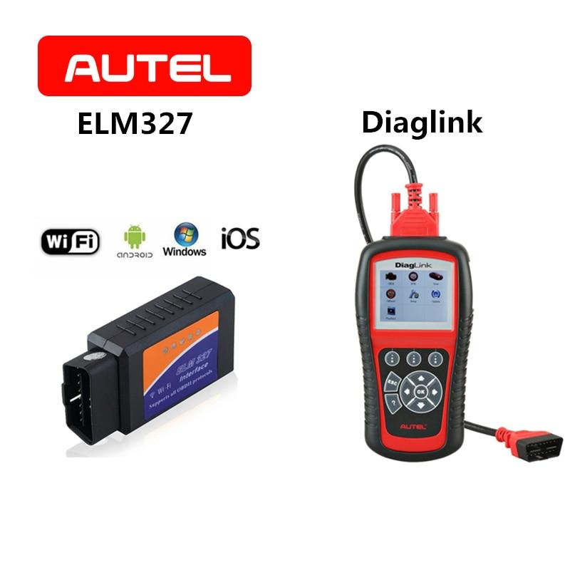 AUTEL pic18f25k80 ELM327 V1.5 Scanner OBDII Diagnostic Tool OBD2 ELM327 Bluetooth WiFi Diesel Auto Code Reader/Diaglink Scanner mini elm327 v1 5 obd2 obdii eobd bluetooth auto scanner interface tool white
