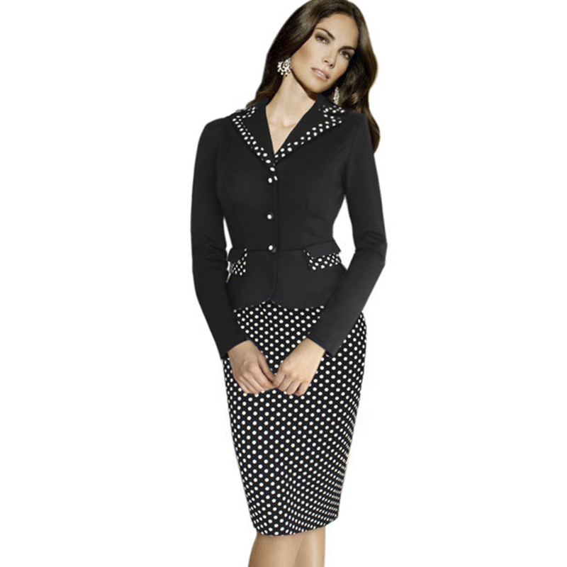 Casual Front Zipper Women Outfit Elegant Solid Color Ladies Office ...