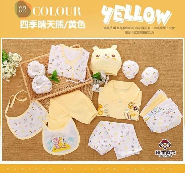 Newborn Baby Clothes Clothing set Cute infant Clothes suit gift bag 18pcs//Set