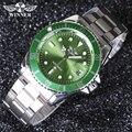 Ganador de los hombres Relojes de Primeras Marcas de Lujo de Los Hombres Militares Hombres Deportes de Pulsera de Acero Completo Reloj Automático A Prueba de agua Relogio Masculin