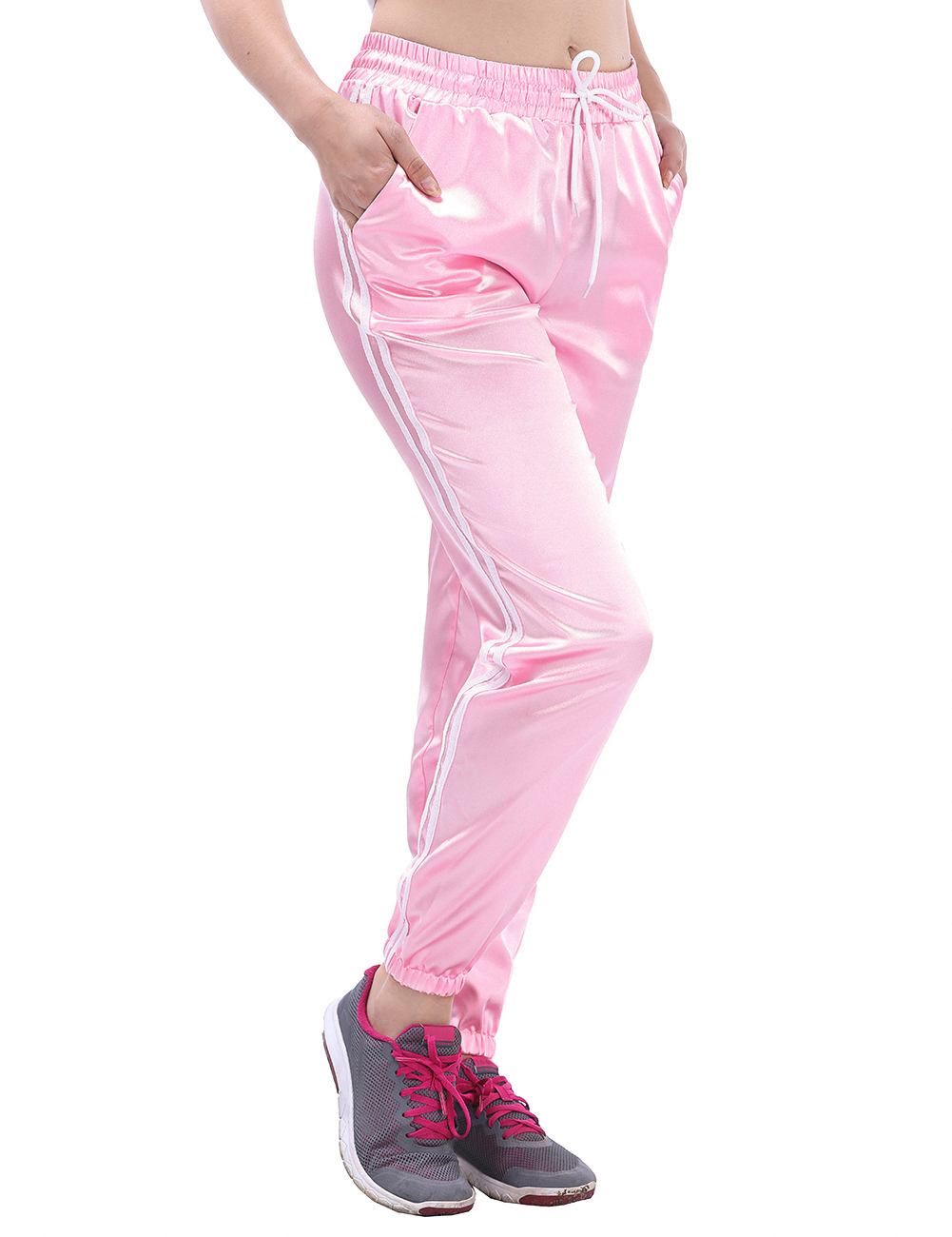 Women Fitness sports Pants Sports Pants Drawstring Running Trousers For Female Bodybuilding Trouser