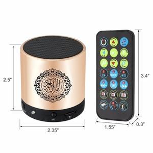 Image 2 - Głośnik Bluetooth Koran Koran Reciter muzułmański głośnik wsparcie 8GB FM MP3 karta TF Radio pilot 15 języków tłumaczenia