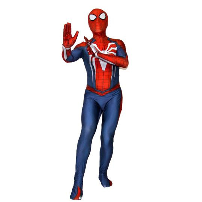 BOOCRE Movie Captain America: Civil War SpiderMan Cosplay Costumes Jumpsuits 3D Printing Halloween Role Playing