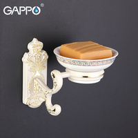 GAPPO 1 Set Wall Mount Zinc Alloy Soap Dish Holder Restroom Soap Basket Soap Box Dish