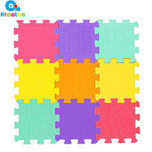 9PCS Baby EVA Foam Play Puzzle Mat Color Crawling Carpet Rugs Interlocking Floor Jubilee Perlindungan Soft Kids Jigsaw Mat