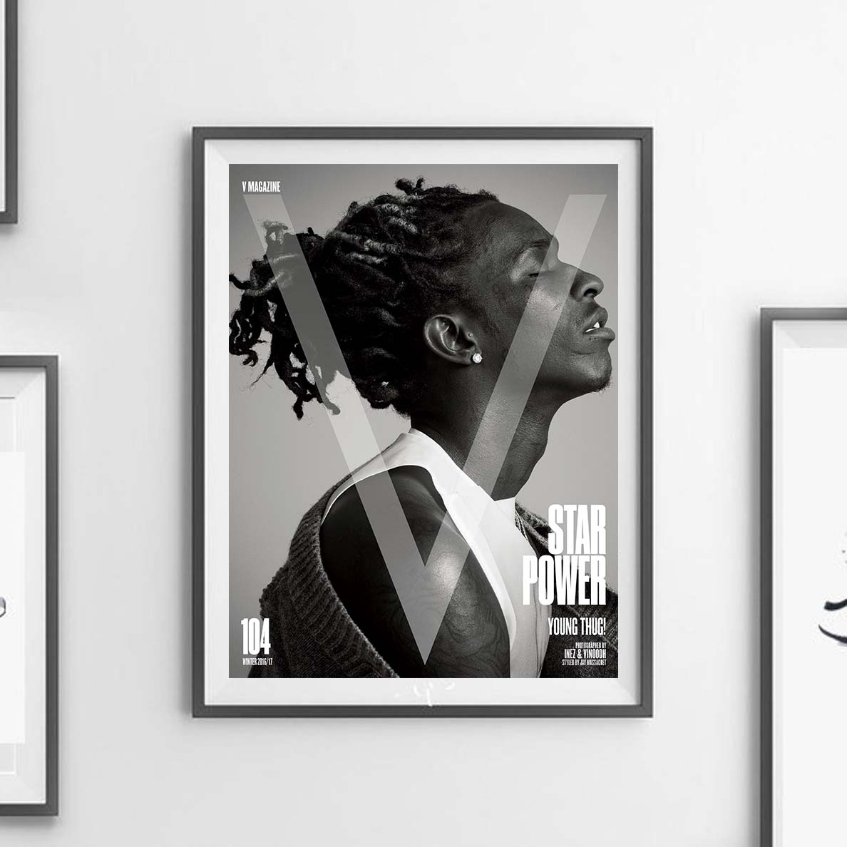 D-704 Young Thug Star Power Custom Music Cover Singer Poster Art Silk 21 24x36in