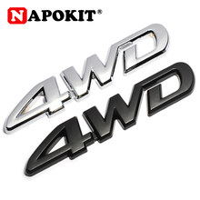 Autocollant 3D en métal chromé 4WD emblème 4X4 Badge voiture style pour Honda CRV Accord Civic Suzuki Grand Vitara Swift SX4 autocollant(China)