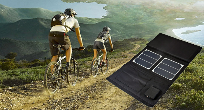 Cycling solar panel charger