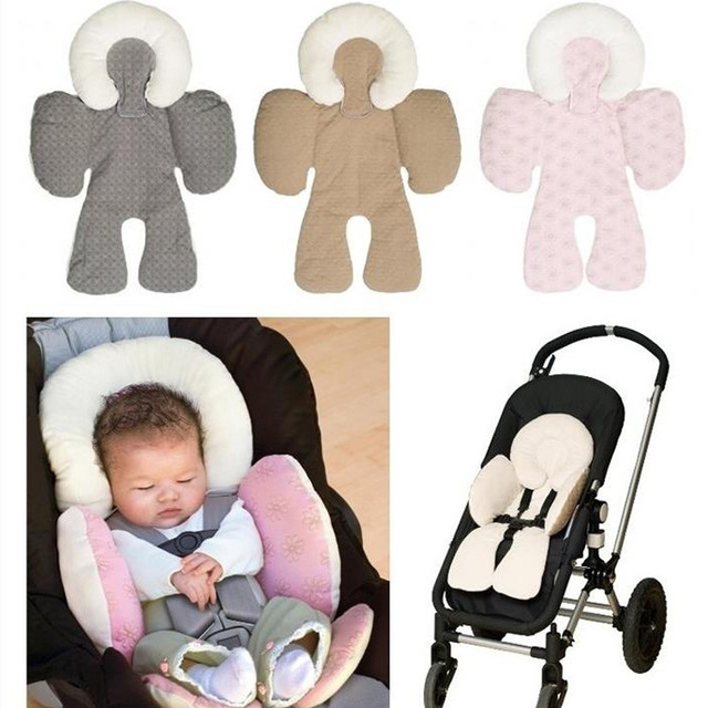 Baby Stroller Body Support Pad Mat Newborn Infant Kids Car Pillow Head Compliance Seat
