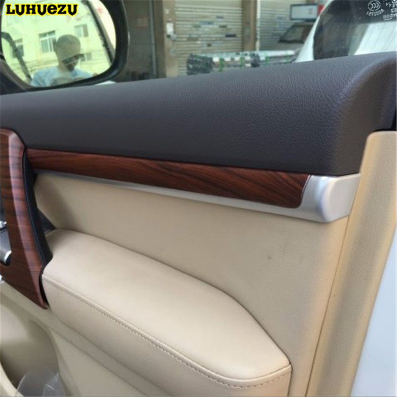 Luhuezu ABS Painting Interior Door Moulding Styling Cover For Toyota Land Cruiser V8 200 LC200 Accessories