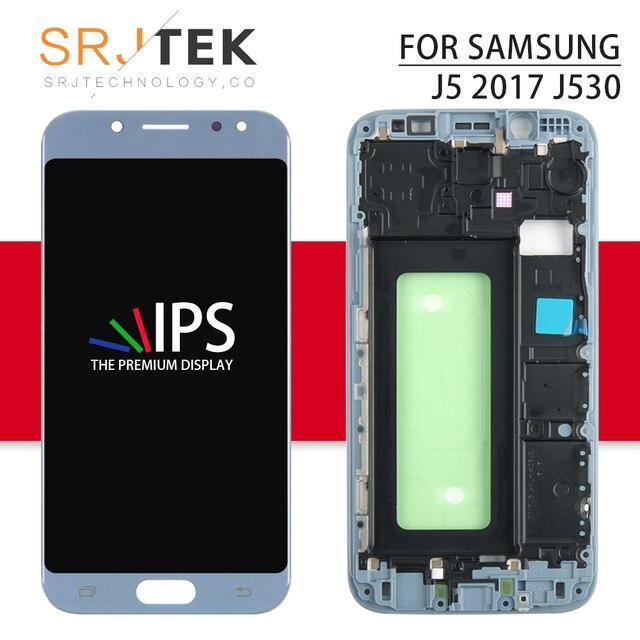 TFT شاشة لسامسونج غالاكسي J5 2017 شاشة الكريستال السائل J530 شاشة الكريستال السائل J530F اللمس محول الأرقام زجاج الجمعية يمكن/لا يمكن ضبط