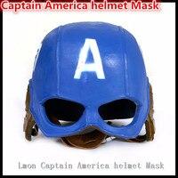 Kostenloser versand Halloween Party Cosplay filmthema Maske The Avengers Captain America Steven Rogers Cosplay Maske Helm Kostüm