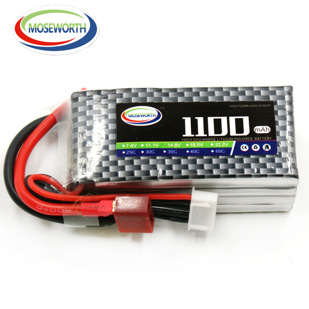 MOSEWORTH 4S 14.8V 1100mah 25c RC Lipo battery for Airplane Drone helicopter Quadrotor Li-ion(Lithium-ion) Cell 2pcs tcbworth 3s rc lipo battery 11 1v 1500mah 40c for rc helicopter airplane quadrotor drone car li ion cell
