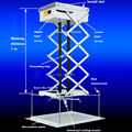 Aliexpress Best Seller 10 KG capacidad de carga eléctrica blanca proyector de montaje en techo ayuda del mando a distancia y Control Manual