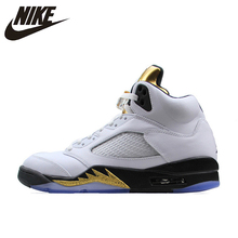 658b64a05d76 Nike Air Jordan 5 Retro AJ 5 hommes respirant nouveauté chaussures de  basket officielle sport baskets