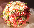2017 Cheap Wedding Bouquet Bridal Bridesmaid Flower Pink/Red/Purple/Orange Artificial Flower Rose Bride Bouquets buque de noiva