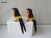 About 15cm Artificial Magpies Birds One Lot 2 Pcs Model Foam Feathers Bird Handicraft Prop Home