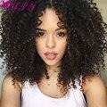 Afro Kinky Вьющиеся Волосы 3 Пучки Монгольский Странный Вьющиеся Девственные Волосы Вьющиеся Переплетения Человеческих Волос Али Королева Волос Продукты