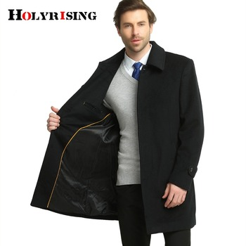 Men Wool Coats Causal Business Jackets Coats Male Turn Collar Overcoat Warm Mens Clothing Black  S-4xl Brand Clothing