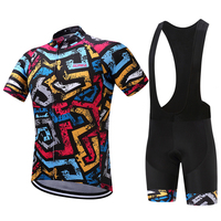 2018 New Quick Dry Men's Summer Cycling Suit Bib Shorts Cycling Clothing Ropa Ciclismo Hombre Bike Mtb Sport Cycling Jersey Set