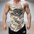 Largueros de camuflaje del ejército de camo para hombre culturismo aptitud de los hombres tank top sin mangas singlet brand clothing camiseta sin mangas