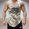 Top homens tanque de fitness camuflagem do exército do camo mens bodybuilding regatas singlet stringers marca clothing camisa sem mangas