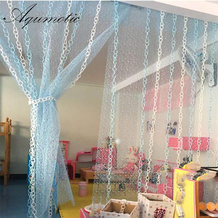 Aqumotic Fabric Room Divider Colorful 450cm Hollow Partition Wall Decorative Home Indoor Room Split Wall Curtain Room Divider