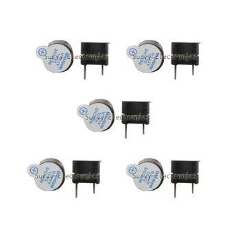 5 sztuk aktywny Buzzer magnetyczny długi ciągły sygnał dźwiękowy dzwonek 12mm 5 V nowy