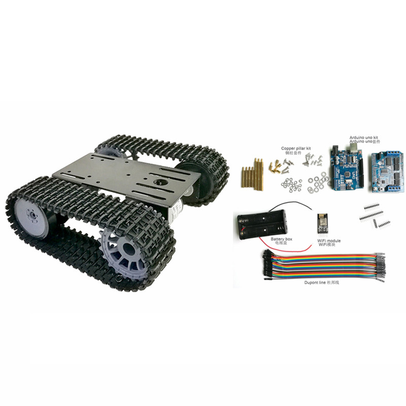 1set WiFi remote control car TP101 intelligent robot tank crawler chassis for Arduino control kit #RBP069 стоимость