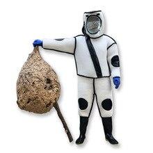 1 zestaw luksusowe osy/pszczelarstwo garnitur zdejmowany kapelusz Anti Bee/Anti Wasp ochronne wyposażenie ochronne dostawy kurtka welon zestaw