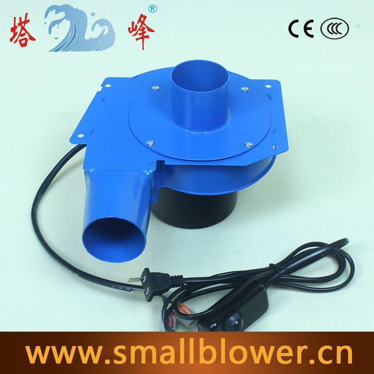 TAFENG 6cm pipe small air electric gas hot air steel housing suction blower centrifugal fan 220v with speed regulating  цены