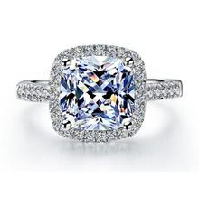 Купить с кэшбэком YAAMELI Hot Sale Factory Cheap Price Women 925 Sterling Silver Shinning Wedding Rings Clear CZ Crystal Girls Fashion Finger Ring
