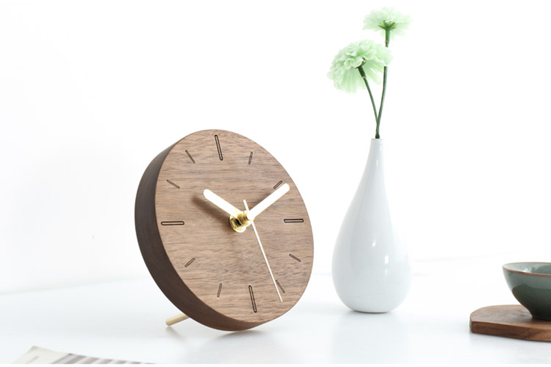 vintage wooden clock clock industrial la crosse mini antique decoration reloj sobremesa moderno decoracion alarm clock batman wood clock desk (8)