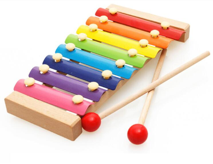Popular 8 Tones Hand Knock Piano Xylophone Wooden Learing