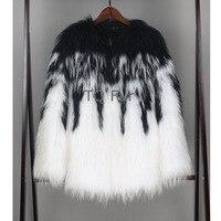 New Arrival Women Raccoon Fur Coat Outerwear Lady Fur Overcoat Real Knit Raccon Fur Coat Winter